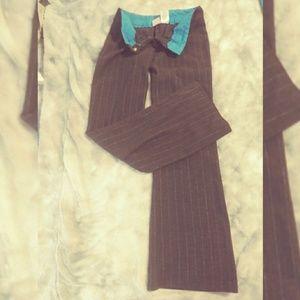 NO BOUNDARIES glitter-stripe stretch pants size 9
